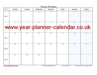 A4 Page Per Month Year Planner Pictures to pin on Pinterest